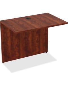 "Lorell Essentials Bridge - 34"" x 24"" x 29.5""Desk, 0.1"" Edge - Material: Polyvinyl Chloride (PVC) Edge, Metal - Finish: Cherry Laminate"