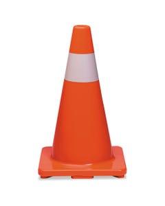 Traffic Cone, 18h X 10w X 10d, Orange/silver