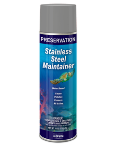 PRESERVATION Brand Stainless Steel Cleaner/Maintainer, Water Based, 16OZ, 12/CS