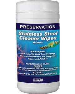 PRESERVATION Brand Stainless Steel Wipes, Oil Based, 6/CS