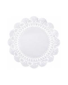 """White Cambridge Lace Doiliy, 5"""", 1000/CS"""
