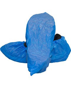 Safety Zone Polyethylene Shoe Cover, XL, Blue