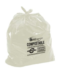"""Aluf Plastics 30 Gallon 0.85 MIL Biodegradable Compostable Bags - ATSM #D6400 Approved 30"""" x 36"""" - Pack of 70"""