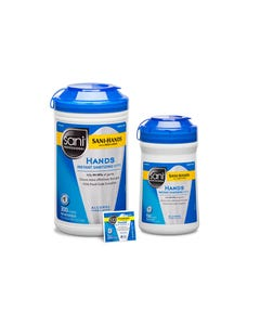Sani-Hands Pop-Up Canister Hand Sanitizer, 300/CN 6CN/CS