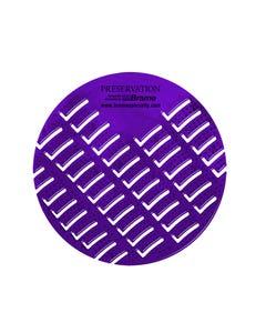 PRESERVATION Brand Urinal Screen, Lavender, 10/BX