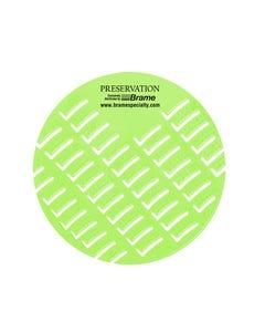 PRESERVATION Brand Anti-Splash Urinal Screen, Melon Mist, 10/BX 6BX/CS