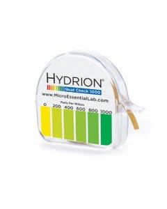 Hydrion Single Roll Quaternary Test Paper Dispenser, 0-1000ppm, 1EA