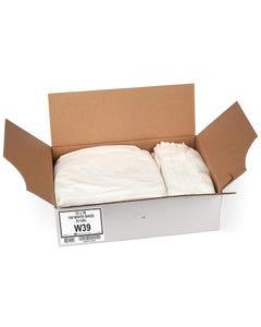 "Aluf Plastics 55-60 Gallon 0.7 MIL White Trash Bags - 38"" x 58"" - Pack of 100"
