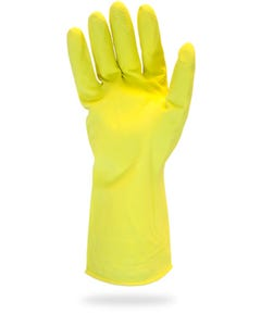 Flock Lined Latex Glove, Large, Gray, 12Mil, 12/PK